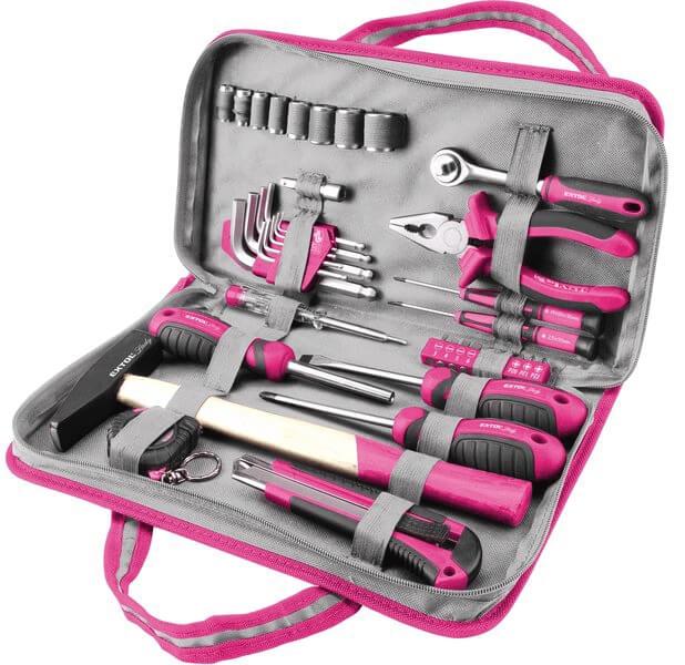Růžové nářadí pro ženy Extol Craft 6596